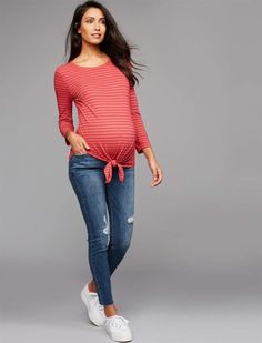 A Pea in the Pod Sam Edelman Secret Fit Belly Kitten Skinny Ankle Maternity Jeans Casual Maternity Outfits, Maternity Jeans, Maternity Dresses, Maternity Fashion, Maternity Style, Baby Bump Style, Mommy Style, Pregnancy Wardrobe, Pregnancy Outfits