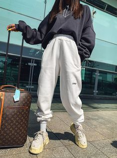 Mo ring pop jogger pants kooding com the best in korean fashion and global style cherub dress black rose black cherub dress new Cute Lazy Outfits, Chill Outfits, Teen Fashion Outfits, Cute Casual Outfits, Mode Outfits, Retro Outfits, Spring Outfits, Sporty Fashion, Hipster Outfits