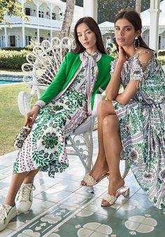 0fef83f69976 Fei Fei Sun   Sara Sampaio Pose in Tory Burch s Garden Party Dresses