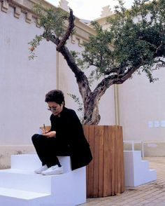 Yoko Ono's Wish Trees    I know this is OT but I love that Yoko's wearing old-school white Reeboks....