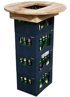 Crate Bar, Empty Wine Bottles, Backyard Bar, Smart Furniture, Pallet Art, Wine Rack, Projects To Try, Woodworking, Decoration