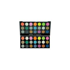 NYX Gigantic Glitter Cream Pallet: NYX Glitterama Palette: NYX... (225 EGP) ❤ liked on Polyvore featuring beauty products, makeup, nyx cosmetics, palette makeup, nyx makeup and nyx