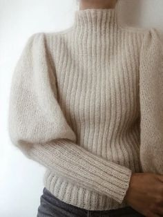 Ravelry: Sweater No. 7 pattern by My Favourite Things Mohair Sweater, Men Sweater, Sweater Knitting Patterns, Mens Knit Sweater Pattern, Baby Cardigan, Stockinette, Vintage Knitting, Look Fashion, Fashion Styles