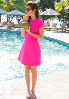 Dress by Ted Baker, bag by Salvatore Ferragamo, shoes by J.Crew. (December 17, 2014)  www.adealwithGodbook.com