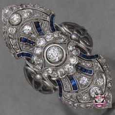 Art Deco Diamond and Sapphire 14k Ring, $2,000