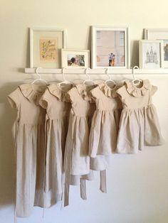 By @SweethannahB #creme #ivory #linen #littlegirl #wedding #dresses