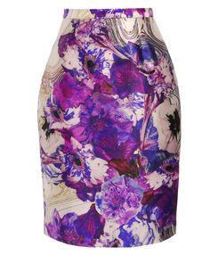 printed wool-silk pencil skirt prabal gurung s s2012 brown s Printed Pencil  Skirt, edf96992ea