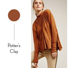 BECKI OWENS - Looking at Pantone's fall colors today on the blog. Fall fashion, Pantone, potter's clay.