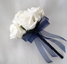 navy wedding flowers