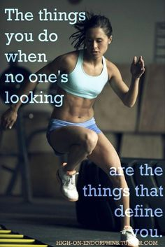 Not everybody has to know how hard u r exercising. Work in silence. Ur succes will be ur noise ;)