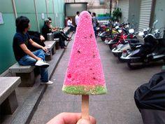 Korean Watermelon Icecream aka Best tasting icecream/block I have ever eaten throughout my entire my life