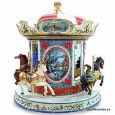 OMG I love this!  Vintage Carousel Cookie Jar    vintagememorie.com