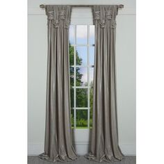 House of Hampton Scholten Solid Room Darkening 100% Cotton Pinch Pleat Curtains & Reviews | Wayfair Fancy Curtains, Pinch Pleat Curtains, Pleated Curtains, Silk Drapes, Living Room Decor Curtains, Home Curtains, Curtains For Arched Windows, Window Curtains, Velvet Room