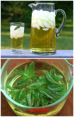 Iced Apple Peppermint Tea.  Superbly refreshing! #drinks #tea daringgourmet.com