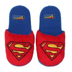 Slip your feet into these plush Superman slippers after a hard day saving Metropolis! Flats, Sandals, On Shoes, Dc Comics, Sons, Great Gifts, Geek Stuff, Plush, Slippers