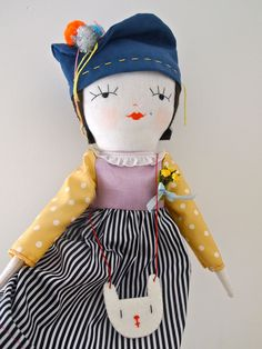 Special Edition Molly Dolly rag doll white rabbit Molly Dolly Bessie.