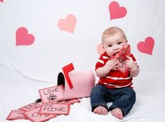 Top 17 Baby & Toddler Valentine Picture Ideas – Creative Digital Photography Tip - Easy Idea (4)