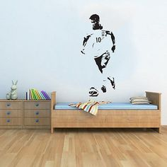 Cheap boys room, Buy Quality wall decals directly from China wall decals kids Suppliers: Barcelona Neymar Handsome Wall Decal Kids Boys Room Playroom Football Player Stickers Art Interior Brazil Soccer Drop Wall Stickers Unicorn, Wall Stickers Sports, Cheap Wall Stickers, Kids Wall Decals, Kids Soccer, Football Soccer, Kids Boys, Neymar, Wall Murals