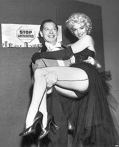 1950's MARILYN MONROE-MILTON BERLE b/w candid period photo | eBay