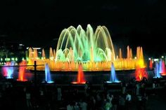 Top 10 Famous Cascading Water Fountains Around the World    3.    The Magic Fountain of Montijuic in Barcelona, Spain      This water fountain was built by Carles Buiga in 1929 for the Great Universal Exhibition in 1930.  Buiga used 3000 people to complete.     To learn more, go to http://blog.waterstatues.com/2017/04/top-10-famous-cascading-water-fountains.html.