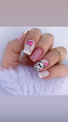 Tattos, Nails, Lady, Beauty, Finger Nails, Frases, Polish Nails, Short Nail Manicure, Nail Manicure