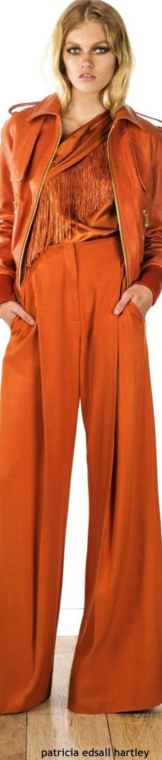 I love this colour. Am an orange girl..... Rachel Zoe Resort 2016: