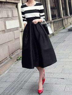 Black Vintage Audrey Hepburn Style Retro Tutu Bust Skirt