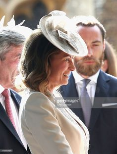 Carole Middleton Photos - Carole Middleton leaves the Church of St Mary Magdalene on the Sandringham Estate for the Christening of Princess Charlotte of Cambridge on July 2015 in King's Lynn, England. - The Christening of Princess Charlotte of Cambridge Kate Middleton Family, Pippa Middleton Style, Carole Middleton, Princess Kate, Princess Charlotte, Duchess Kate, Duchess Of Cambridge, William Y Kate, Pippa And James
