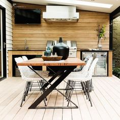 If you love cooking meat, fish, veggies, create an amazing outdoor barbeque area outdoors. Outdoor Barbeque Area, Outdoor Bbq Kitchen, Bbq Area, Patio Dining, Outdoor Dining, Dining Area, Outdoor Decor, Indoor Outdoor Living, Outdoor Areas
