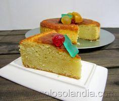 Golosolandia: Recetas de postres (tartas  caseras y postres caseros): Bizcocho de queso fresco