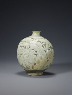 Buncheong Bottle, Joseon dynasty (1392–1910), 15th century, 9.5 inches in height. In the November 2014 issue of Ceramics Monthly Sam Chung discusses how his work has changed throughout his career and some of the major influences behind his work. Chung mentions that he is currently focusing back on traditional Korean bottle forms, particularly the rice-bale bottle forms from the Joseon Dynasty. http://ceramicartsdaily.org/ceramics-monthly/ceramics-monthly-november-2014/