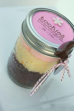 cake in a jar.