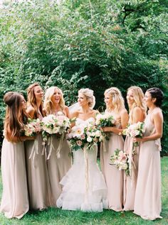 Bridesmaids in blush pink: http://www.stylemepretty.com/2016/04/20/a-whirlwind-hometown-wedding-filled-with-heart/ | Photography: Annie Parish - http://annieparishphotography.com/