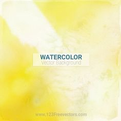 Abstract Yellow Watercolor Background
