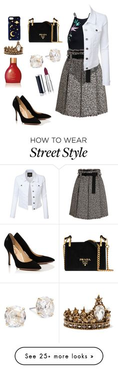 """""""Street style"""" by camilaassum on Polyvore featuring Ollio, Alexander McQueen, CHARLES & KEITH, Prada, Kate Spade and Givenchy"""