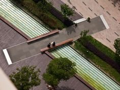 Bridge on the Gubei Pedestrian Promenade, Shanghai by SWA Group. Click image for link to full profile & visit the Slow Ottawa.ca boards >> http://www.pinterest.com/slowottawa/