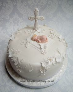 My Daughters Christening Cake - by helenthecakelady1 @ CakesDecor.com - cake decorating website