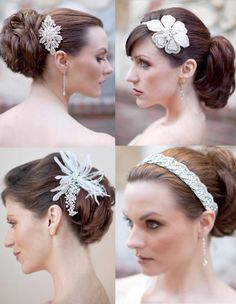 Vintage Bridal Hair Style Beaded White Flower Headband Tiara - Trends fashion and style 2015
