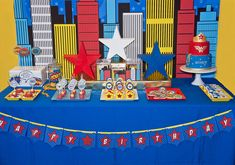 A Comic Style Wonder Woman Super Hero Birthday Party : Anders Ruff Custom Designs :