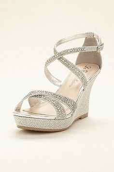 52 Stunning Wedge Silver Wedding Shoes, Cozy Wedding With Covered in Sparkly Rhi. 52 Stunning Wedge Silver Wedding Shoes, Cozy Wedding With Covered in Sparkly Rhinestones Silver Bridesmaid Shoes, Bridesmaid Sandals, Silver Wedding Shoes, Wedding Shoes Bride, Bride Shoes, Bridesmaids, Silver Wedges, Silver Sandals, Silver Shoes