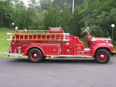 Fuller Road Fire Department, Albany, NY - 1958 Mack #oldies #retired #used #red #antique #fire #vintage #throwback #setcom http://setcomcorp.com/1600intercom.html