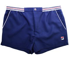 - Fila Vintage High Tide Shorts - Zip, stud and velcro fastening - Elasticated waist - Fila branding to side and stud - Two hand pockets