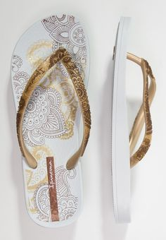 Ipanema - LOVELY - Bade-Zehentrenner - white/gold