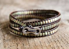 Leather Wrap Bracelet- Etsy
