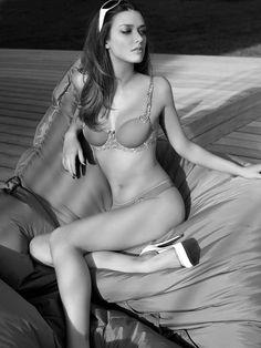 Julie Monturet, French fashion model.