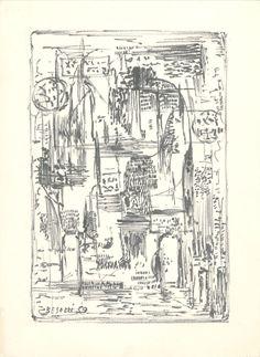 E. Besozzi pitt. 1959 Composizione pennarello su carta cm 25,9x18,9 arc. 594