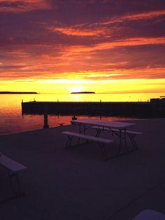 I love sunsets in door county ...
