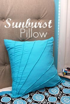 """This was a pretty quick and easy pillow. On my """"sun burst"""" lines, I made them a tiny bit wider and then ironed them down. I think it looks better. :)"""