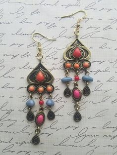 Receive a FREE GIFT with any purchase the whole month of January ❤  https://www.etsy.com/listing/472760166/antique-gold-gypsy-style-dangle-earrings