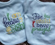 IN STOCK Twins Embroidered Baby Bib by CuddlyStitchesbycjk on Etsy